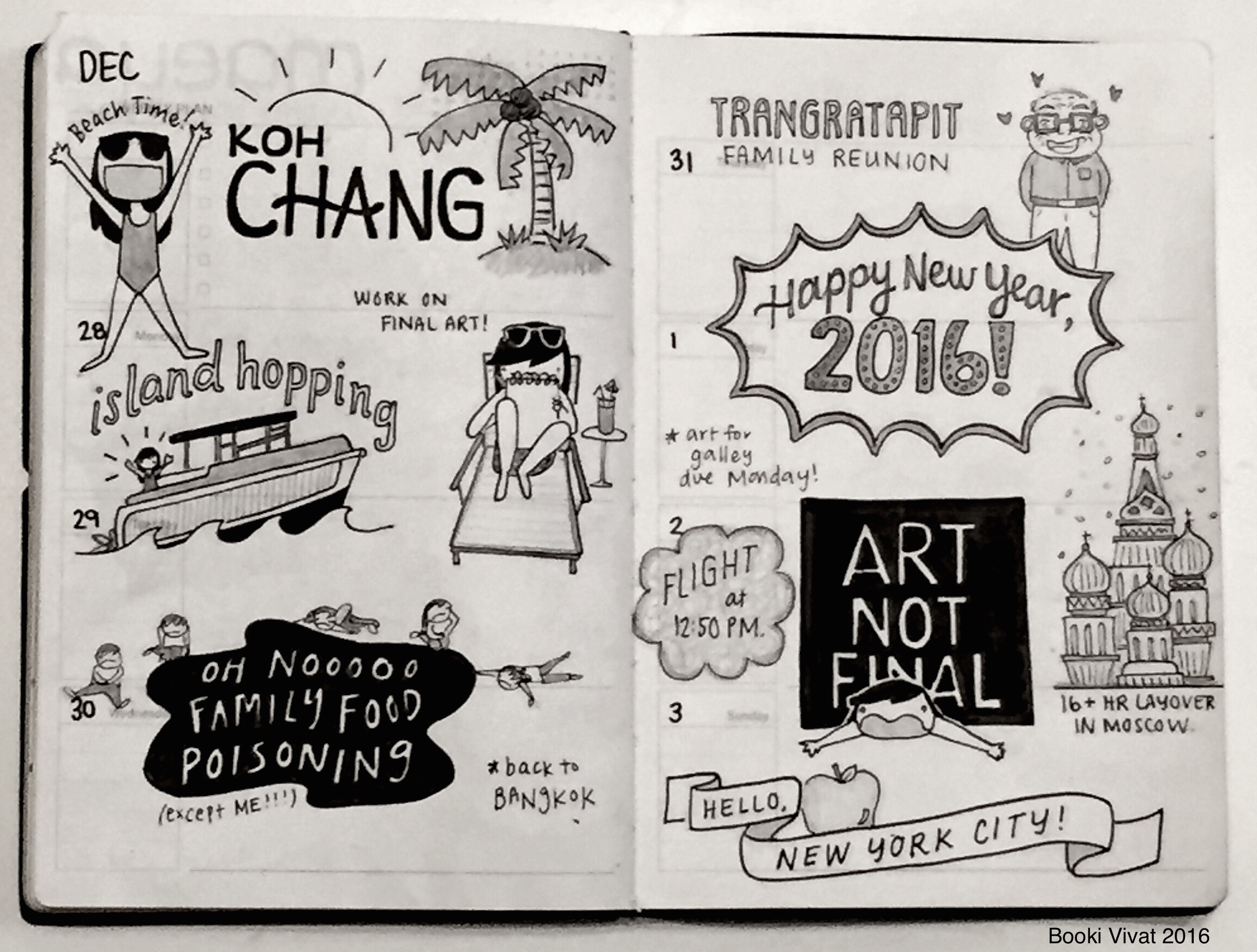 Booki Vivat planner doodles